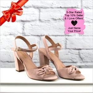 348c93984548 Steve Madden Shoes - Madden NYC Blush Bow Suede Sandal ~dg40p5b22s25p2